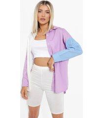 oversized colour block blouse, lilac