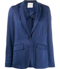 forte forte loose fit blazer - blue