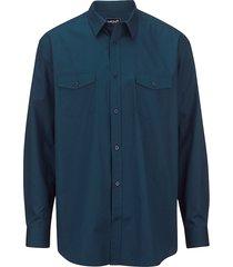 overhemd men plus blauw::petrol