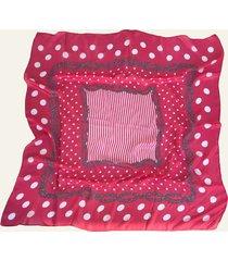 pañuelo coral nuevas historias  cadenas y lunares ba536-43