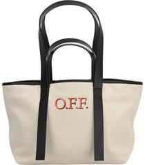 off white small commercial tote bag