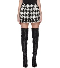 'conry' houndstooth tweed shorts
