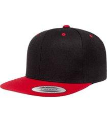 gorra flexfit snapback negro/rojo 6089mt