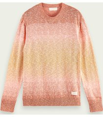 scotch & soda crew neck recycled cotton blend sweater