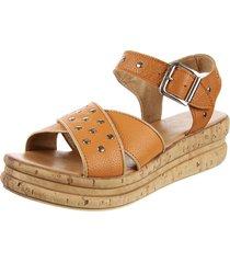 sandalia de cuero suela valentia calzados ticiana