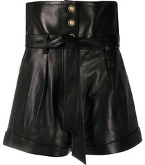 iro kolka wide-leg leather shorts - bla01