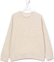 andorine teen swallow patch sweatshirt - neutrals