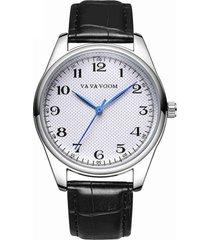 orologi classici della fascia di cuoio degli uomini orologi di lusso minimalisti della mano blu di numero grande di lusso per gli uomini