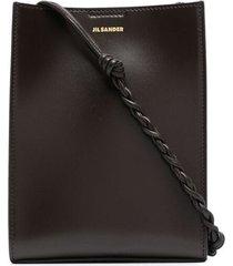 jil sander small tangle crossbody bag - brown