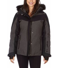 avalanche women's hooded ski jacket