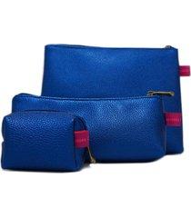 cosmetiquera azul mercedes campuzano