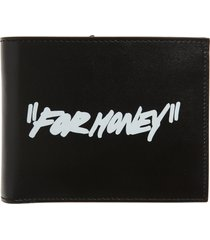 men's off-white quote bifold leather wallet -