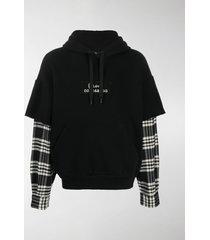 dolce & gabbana layered-effect hoodie