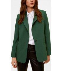 mango women's structured button blazer