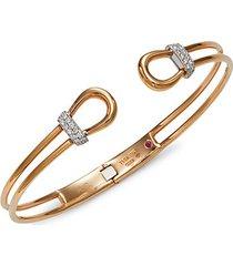 18k two-tone gold, ruby & diamond cuff bracelet