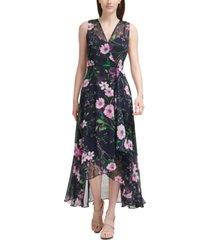 calvin klein high-low maxi dress