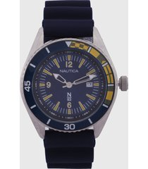 reloj azul-plateado nautica
