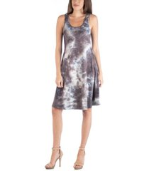 24seven comfort apparel tie dye a-line fit and flare boho mini dress