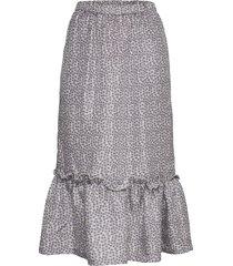 otily skirt knälång kjol grå nué notes