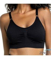 sutiã basic comfort preto sut018 - feminino
