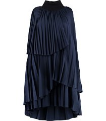 fabiana filippi pleated flounce mini dress