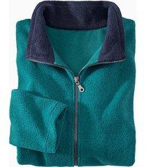 fleece jas, petrol/nachtblauw s