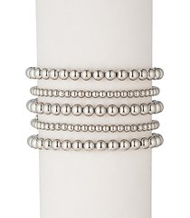 emma 18k white goldplated bracelet