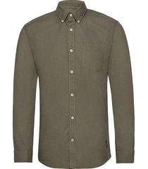 washed oxford shirt l/s skjorta casual grön shine original