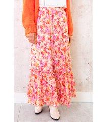 maxi rok floral fuchsia