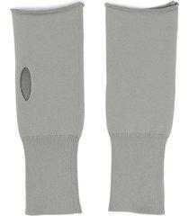 jil sander fingerless thumb hole gloves - grey