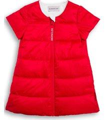 moncler red padded nylon dress