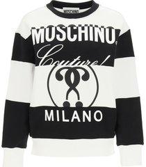 moschino multilogo patchwork sweatshirt