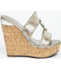 sandalias footwear gwbeanca-a plateado guess