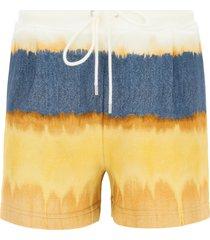 alberta ferretti i love summer tie-dye jersey shorts