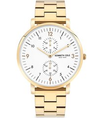 kenneth cole new york men's dress sport goldtone stainless steel bracelet watch
