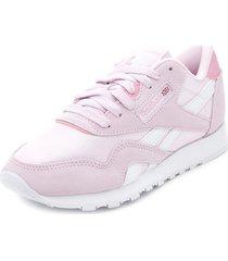 zapatilla urbana cl nylon rosa reebok