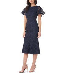 js collections embellished lace flounce dress