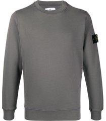 stone island logo long-sleeve sweatshirt - grey