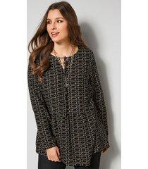 blouse sara lindholm zwart::zand