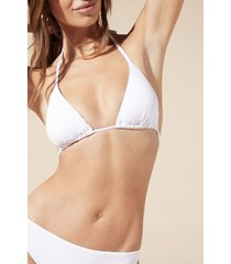 calzedonia string triangle swimsuit top indonesia woman white size 5