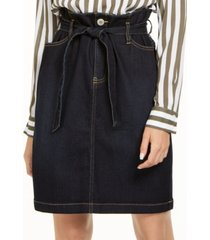 inc paperbag-waist denim skirt, created for macy's