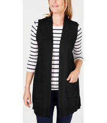 karen scott duster vest, created for macy's