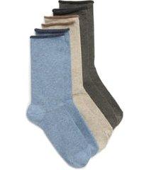 women's hue jeans 3-pack crew socks