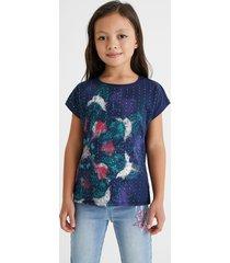 cotton mini t-shirt beads - blue - 13/14