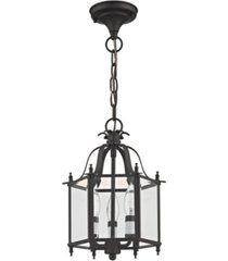 "livex livingston 3-light 15.25"" convertible mini pendant/ceiling mount"