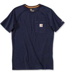 carhartt t-shirt men force cotton t-shirt s/s navy-xxl