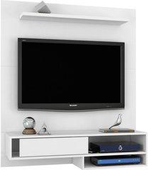 painel bancada suspensa para tv até 50 pol. orleans branco móveis leão