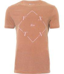 t-shirt masculina losango - marrom