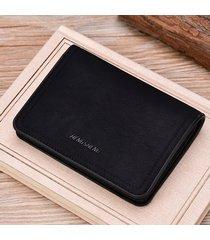 mini billetera/ cartera con cremallera monedero de los-negro
