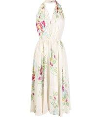a.n.g.e.l.o. vintage cult 1950s floral-print halterneck dress -